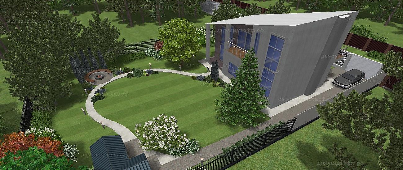 Ландшафтный дизайн загородного дома и участка