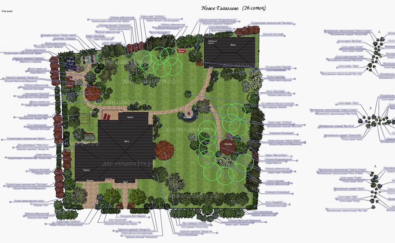 Ландшафтного дизайна участка